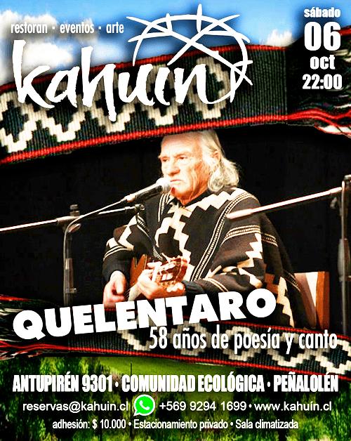 20181006s quelent kahuin recital - QUELENTARO y sus 58 años artisticos - folclore
